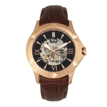 Load image into Gallery viewer, Reign Dantes Automatic Skeleton Dial Leather-Band Watch - Rose Gold/Brown - REIRN4706