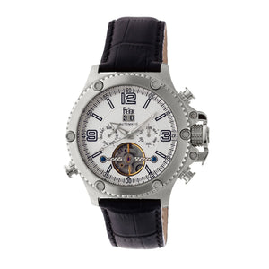 Reign Goliath Automatic Leather-Band Watch - Silver - REIRN3301