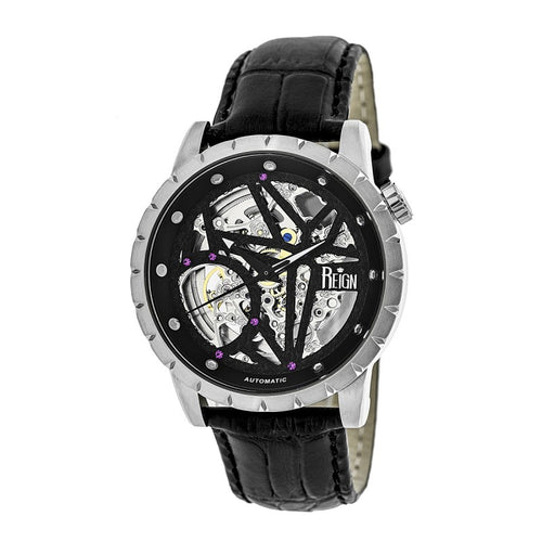Reign Xavier Automatic Skeleton Leather-Band Watch - REIRN3902