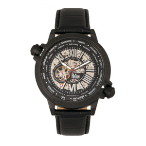 Reign Thanos Automatic Leather-Band Watch - Black/White - REIRN2102