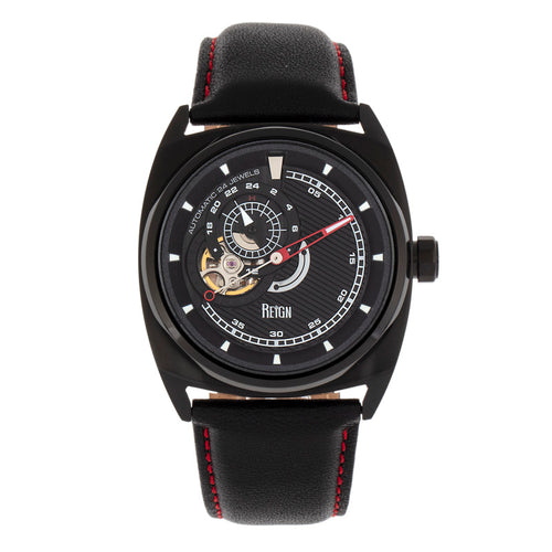 Reign Astro Semi-Skeleton Leather-Band Watch - REIRN5505