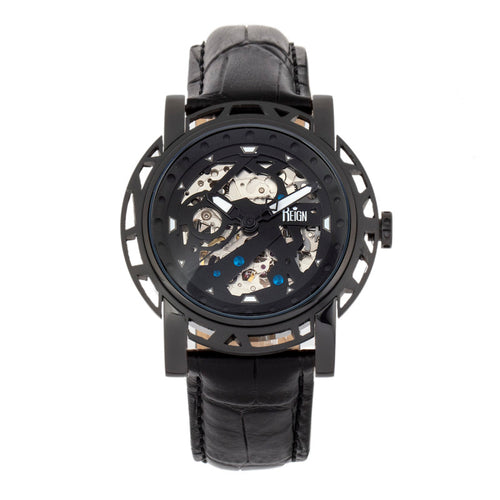 Reign Stavros Automatic Skeleton Leather-Band Watch - REIRN3705