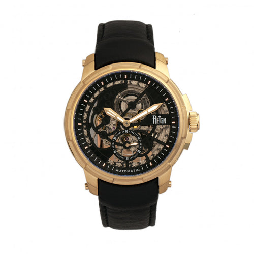 Reign Matheson Automatic Skeleton Dial Leather-Band Watch - REIRN5304