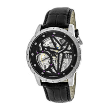 Load image into Gallery viewer, Reign Xavier Automatic Skeleton Leather-Band Watch - Silver/Black - REIRN3902