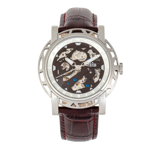 Reign Stavros Automatic Skeleton Leather-Band Watch - REIRN3701