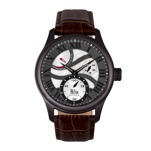 Reign Bhutan Leather-Band Automatic Watch - REIRN1604