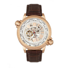 Load image into Gallery viewer, Reign Thanos Automatic Leather-Band Watch - Rose Gold/White - REIRN2104
