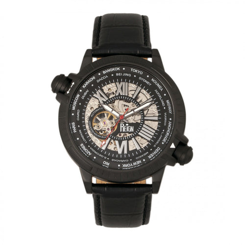 Reign Thanos Automatic Leather-Band Watch - REIRN2102