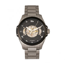 Load image into Gallery viewer, Reign Henley Automatic Semi-Skeleton Bracelet Watch - Silver/Black - REIRN4502
