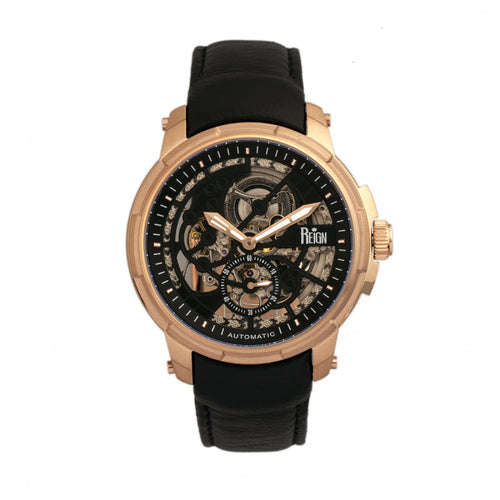 Reign Matheson Automatic Skeleton Dial Leather-Band Watch - REIRN5306