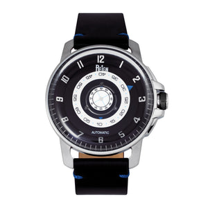 Reign Monarch Automatic Domed Leather-Band Watch