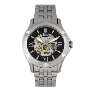 Reign Dantes Automatic Skeleton Dial Bracelet Watch - Silver/Black - REIRN4702
