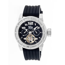 Load image into Gallery viewer, Reign Rothschild Automatic Semi-Skeleton Watch w/Day/Date - Silver/Black - REIRN1302