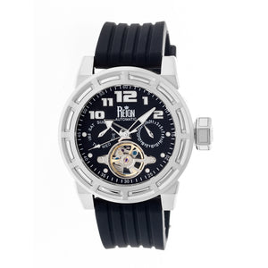 Reign Rothschild Automatic Semi-Skeleton Watch w/Day/Date - Silver/Black - REIRN1302