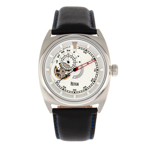 Reign Astro Semi-Skeleton Leather-Band Watch - REIRN5501