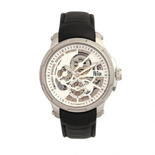 Load image into Gallery viewer, Reign Matheson Automatic Skeleton Dial Leather-Band Watch - Black/White - REIRN5301