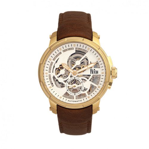 Reign Matheson Automatic Skeleton Dial Leather-Band Watch - REIRN5303