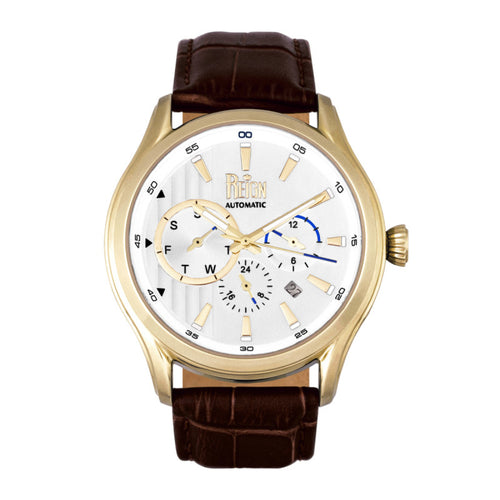 Reign Gustaf Automatic Leather-Band Watch - REIRN1502