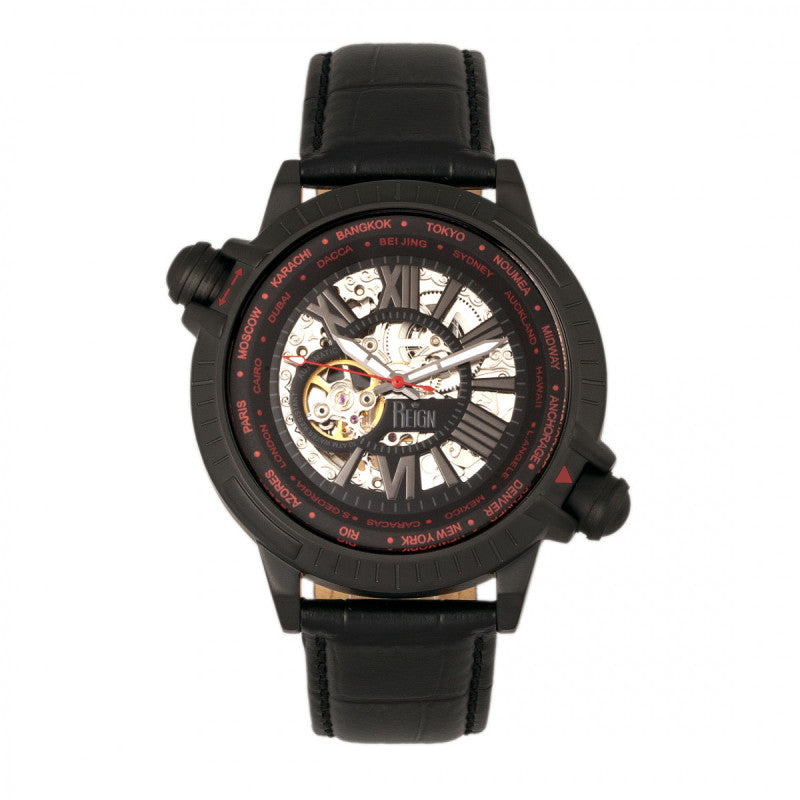 Reign Thanos Automatic Leather-Band Watch
