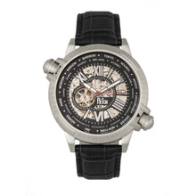 Load image into Gallery viewer, Reign Thanos Automatic Leather-Band Watch - Silver/Black - REIRN2101