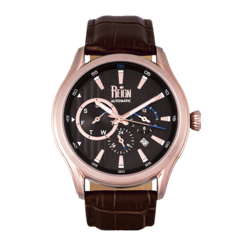 Reign Gustaf Automatic Leather-Band Watch - REIRN1506