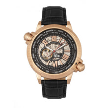 Load image into Gallery viewer, Reign Thanos Automatic Leather-Band Watch - Rose Gold/Black - REIRN2107