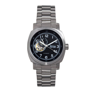 Reign Impaler Semi-Skeleton Bracelet Watch - Black/Silver - REIRN6106