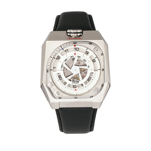Reign Asher Automatic Sapphire Crystal Leather-Band Watch - REIRN5101