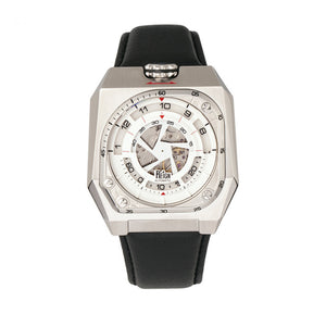 Reign Asher Automatic Sapphire Crystal Leather-Band Watch
