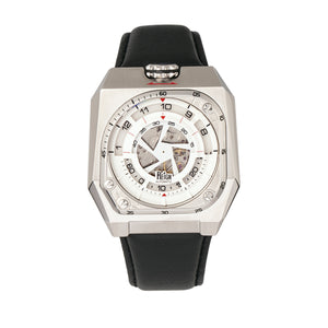 Reign Asher Automatic Sapphire Crystal Leather-Band Watch - Silver/Black - REIRN5101