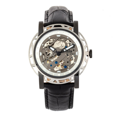 Reign Stavros Automatic Skeleton Leather-Band Watch - REIRN3704