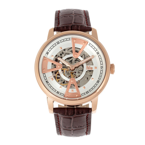 Reign Belfour Automatic Skeleton Leather-Band Watch - REIRN3604
