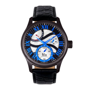 Reign Bhutan Leather-Band Automatic Watch