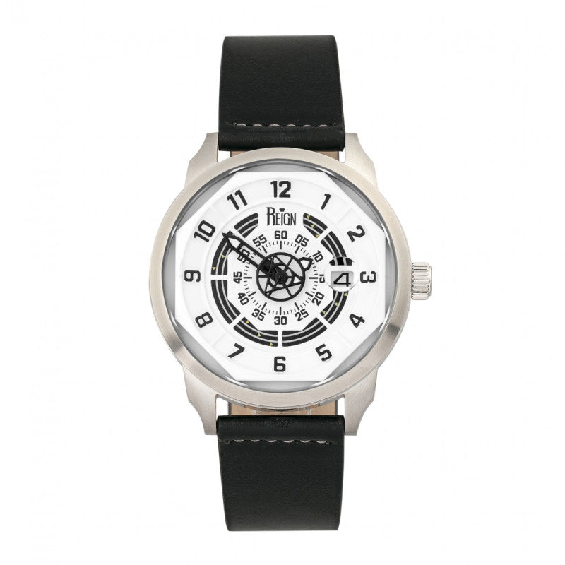 Reign Lafleur Automatic Leather-Band Watch w/Date