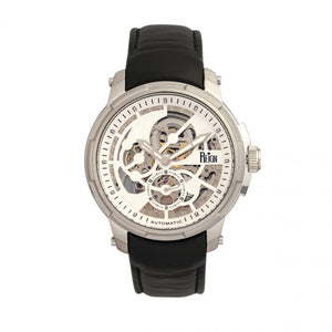 Reign Matheson Automatic Skeleton Dial Leather-Band Watch