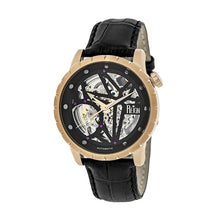 Load image into Gallery viewer, Reign Xavier Automatic Skeleton Leather-Band Watch - Rose Gold/Black - REIRN3906