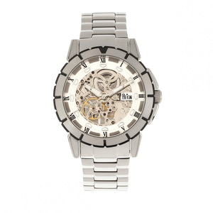 Reign Philippe Automatic Skeleton Bracelet Watch - Silver/White - REIRN4601