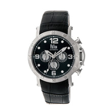 Load image into Gallery viewer, Reign Toretto Automatic Leather-Band Watch - Silver/Black - REIRN3502