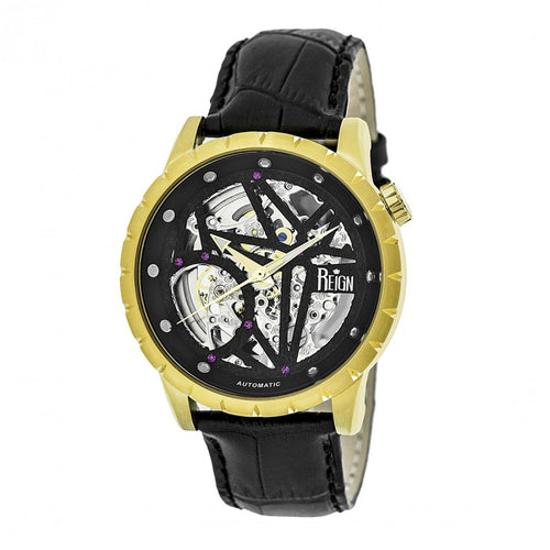 Reign Xavier Automatic Skeleton Leather-Band Watch - REIRN3904