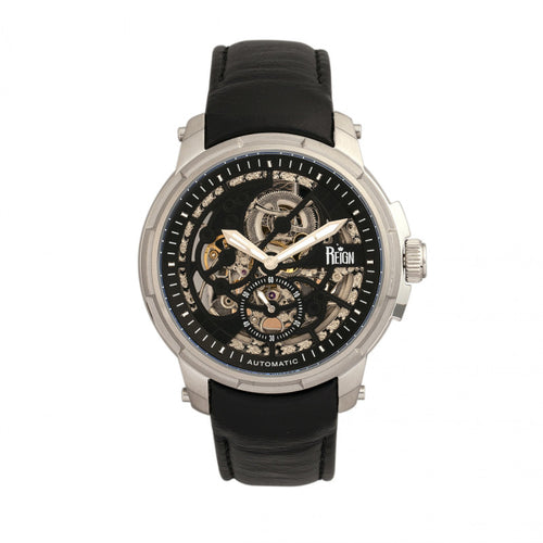 Reign Matheson Automatic Skeleton Dial Leather-Band Watch - REIRN5302