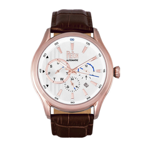 Reign Gustaf Automatic Leather-Band Watch - REIRN1504