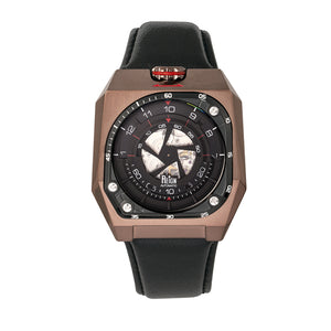Reign Asher Automatic Sapphire Crystal Leather-Band Watch - Brown/Black - REIRN5104