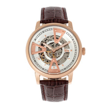 Load image into Gallery viewer, Reign Belfour Automatic Skeleton Leather-Band Watch - Rose Gold/Silver - REIRN3604
