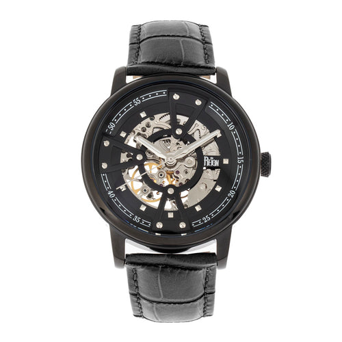 Reign Belfour Automatic Skeleton Leather-Band Watch - REIRN3606