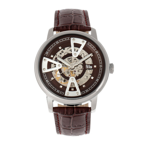 Reign Belfour Automatic Skeleton Leather-Band Watch - REIRN3602