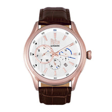 Load image into Gallery viewer, Reign Gustaf Automatic Leather-Band Watch - Brown/Rose Gold - REIRN1504