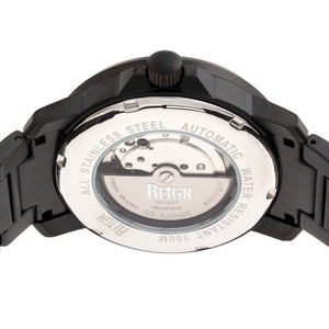 Reign Helios Automatic Bracelet Watch w/Day/Date - Black - REIRN5704