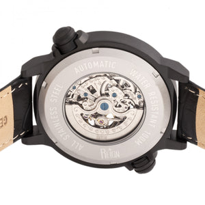 Reign Thanos Automatic Leather-Band Watch - Black/Red - REIRN2103