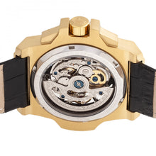 Load image into Gallery viewer, Reign Commodus Automatic Skeleton Leather-Band Watch - Gold/Black - REIRN4004
