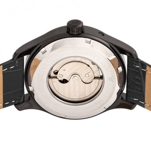 Reign Bhutan Leather-Band Automatic Watch - Black - REIRN1603